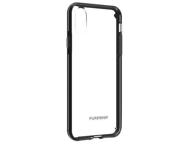 reputable site 99b71 1ac2d PureGear Slim Shell Clear/Black Case for iPhone X 62063PG - Newegg.com