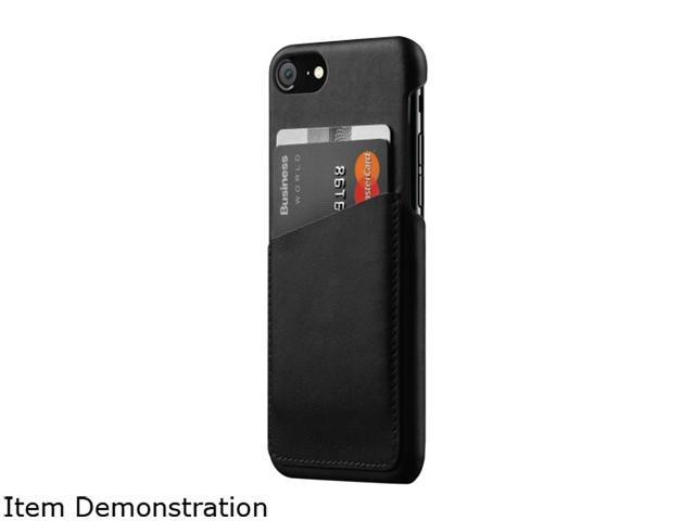 new arrival b2817 7910c Mujjo Black Full Leather Wallet Case for iPhone 8 MUJJO-CS-090-BK -  Newegg.com