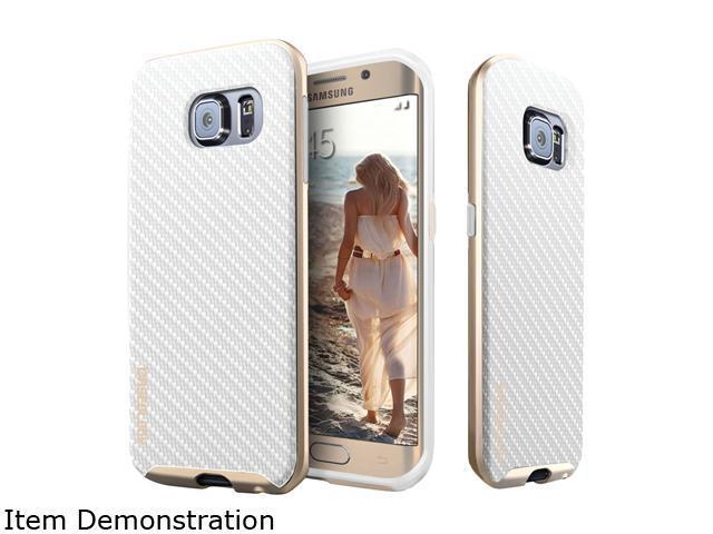 buy online 8d98d 98324 Caseology Envoy Series Carbon Fiber White Leather Bound Case for Samsung  Galaxy S6 Edge CO-G6E-BMP-CBF-WH - Newegg.com