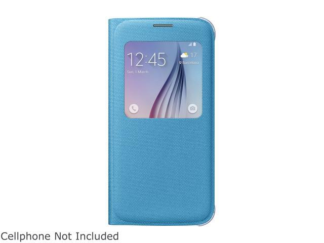 new style 40be9 24465 SAMSUNG Blue Fabric Solid S-View Flip Cover for Samsung Galaxy S 6  EF-CG920BLEGUS - Newegg.com