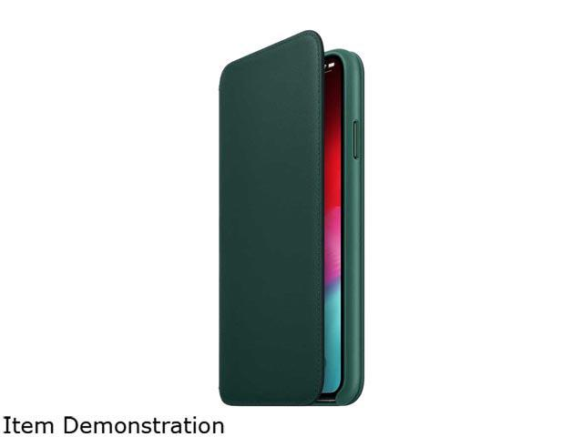 watch 286e1 28256 Apple Forest Green iPhone Xs Max Leather Folio Case MRX42ZM/A - Newegg.com