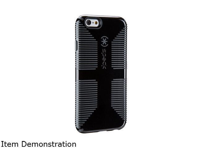 752b13b969 Speck Products CandyShell Grip Black/Slate Grey Case for Samsung Galaxy S6  SPK-A3717