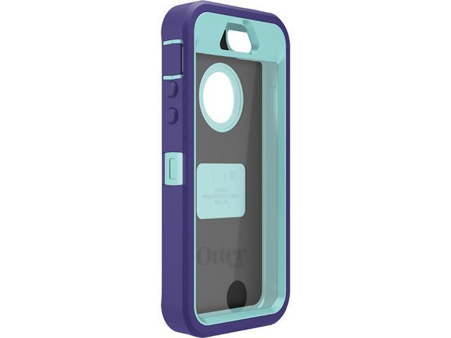 best cheap 902d5 8a235 OtterBox Defender Series Lily (Purple/Aqua) Case for iPhone 5 / 5s 77-34148  - Newegg.com