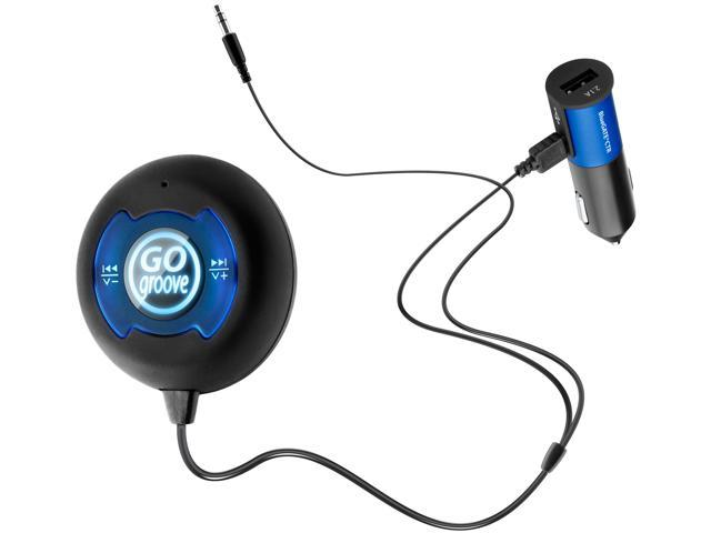 GOgroove BlueGATE CTR Hands-Free Bluetooth Car Kit with NFC Compatibility,  Music Control, Voice Command and Volume Amplifier - Newegg com
