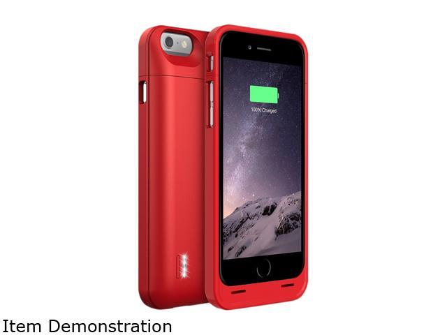 best website f152d d1c73 UNU-DX-06-3000-RED iPhone 6 Battery Case ( 4.7 Inches) [Metallic Red] - MFI  Apple Certified 3000mAh External Protective iPhone 6 Charging Case - ...