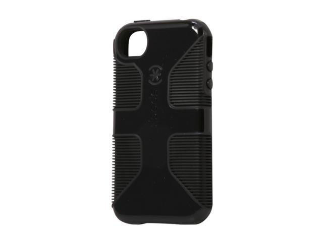 sale retailer 80c71 65ee9 Speck Products CandyShell Grip Black Rubberized Hard Case for iPhone 4 & 4S  SPK-A0797 - Newegg.com