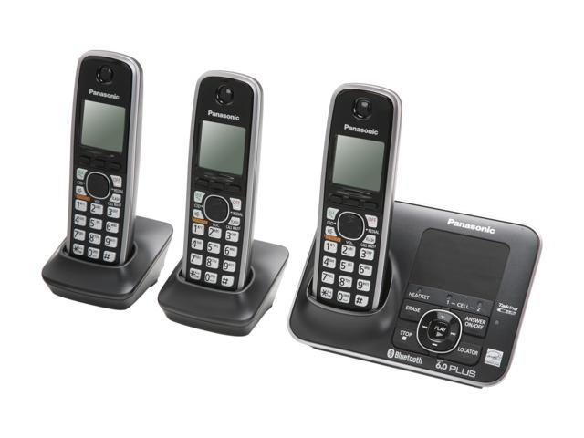 panasonic kx tg7623b link to cell 1 9 ghz digital dect 6 0 3x rh newegg com panasonic kx-tg7623b dect 6.0 manual panasonic kx-tg7623b manual