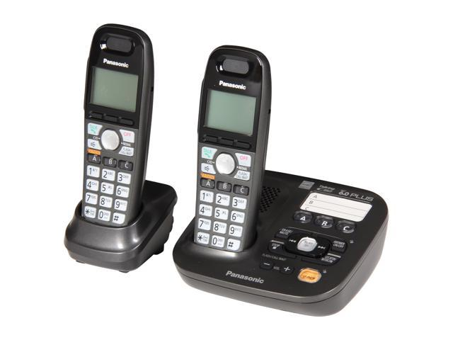 Panasonic KX-TG6592T Expandable Digital Cordless Answering System with 2 handset