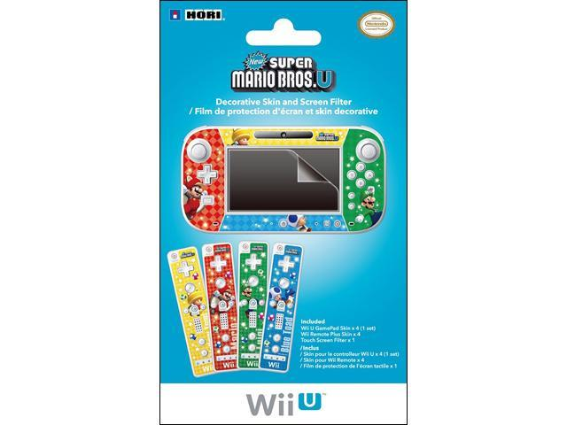 HORI Wii U Decorative Skin and Screen Filter (New Super Mario Bros  U) -  Newegg com