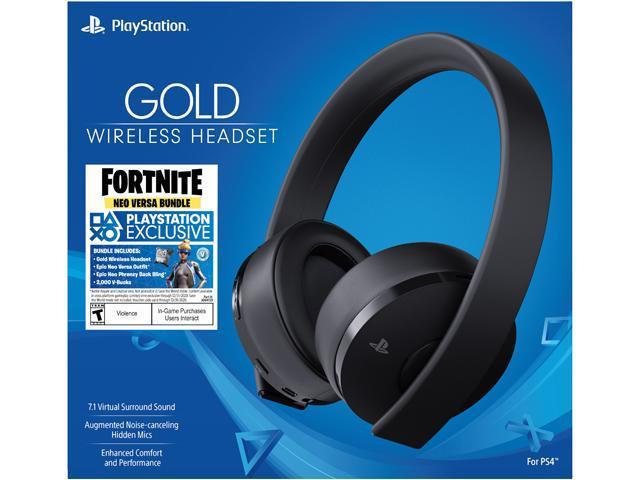 Sony Playstation 4 Gold Wireless Headset Bundle Fornite Neo Versa Newegg Com
