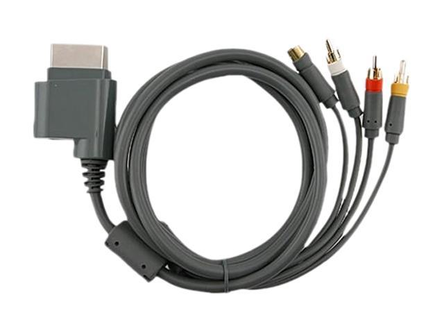 2. 5m gray av composite and s-video cable for microsoft xbox 360.