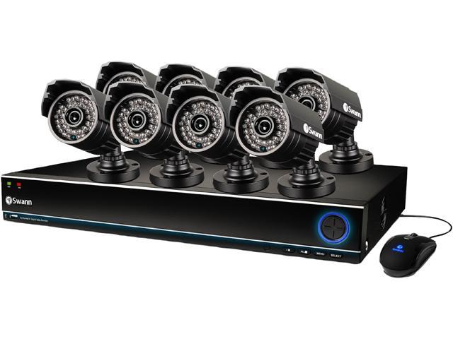 Swann SWDVK-163208S-US 16 Channel 960H H 264 Level Surveillance DVR Kit w/  1TB HDD and 8 x 700TVL, 85' Night Vision, IP67 Outdoor Camera -