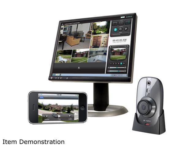 0edc1489065 Logitech Alert 750i Indoor Master HD-quality Security System with  Wide-Angle Lens (