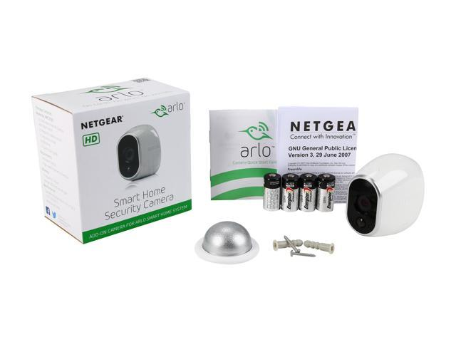NETGEAR Arlo Smart Home - Add-on HD Security Camera, 100% Wire-Free, Indoor  / Outdoor with Night Vision Battery Powered- VMC3030-100NAS - Newegg com