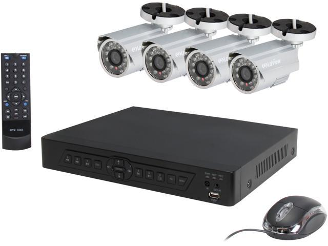 Laview Lv Kdv0804b6s 8 Channel Dvr With Remote Freedom And 4 X 600tvl Day Night Bullet Cameras