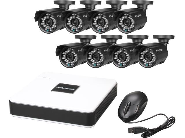 LaView LV-KD5188D-T1 8 Channel Compact Security DVR Cloud System w/ 1TB HDD  Easy DIY Eight 600TVL Infrared Surveillance Cameras - Newegg com