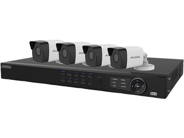 LaView LV-KN988P84A4 8 Channel NVR Security System with 4x 1080P IP Cameras  (No HDD Included, Sold Separately) - Newegg com