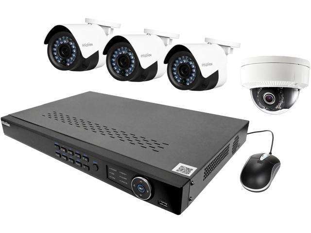 laview lv knd988p84d231 ip security system 4 cameras 8 channel nvr 3 x hd - Nvr Security System