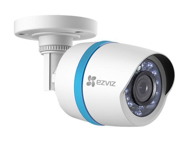 Sistema de seguridad de IP NVR EZVIZ 8 canales HD 1080p PoE c / disco duro  de 0TB 2 y 6 resistente a la intemperie 1080p PoE bala IP cámaras, funciona