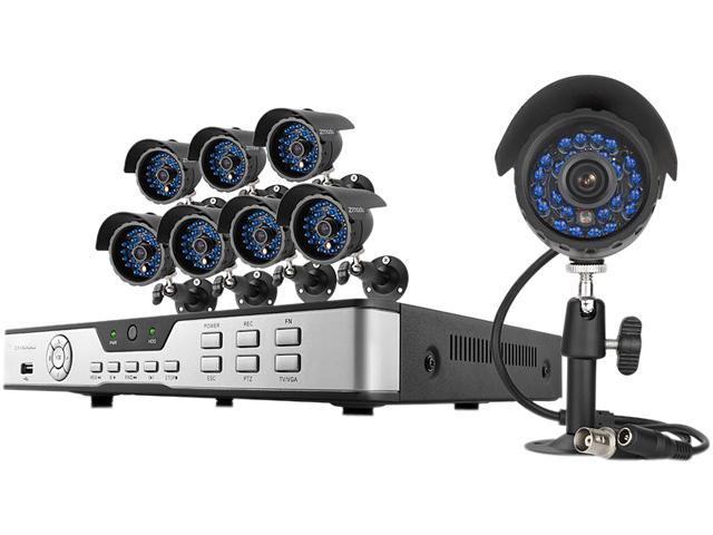Zmodo KDB8-CARQZ8ZN 8 Channel Surveillance DVR Kit - Newegg com