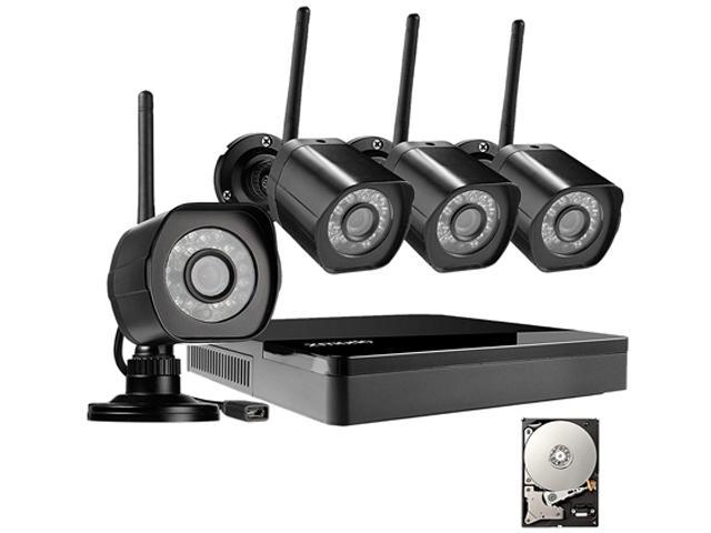 Zmodo HD Wireless Surveillance System 4 Channel NVR with 1TB HDD 4 HD 720p  Outdoor Home Security Cameras - Newegg com