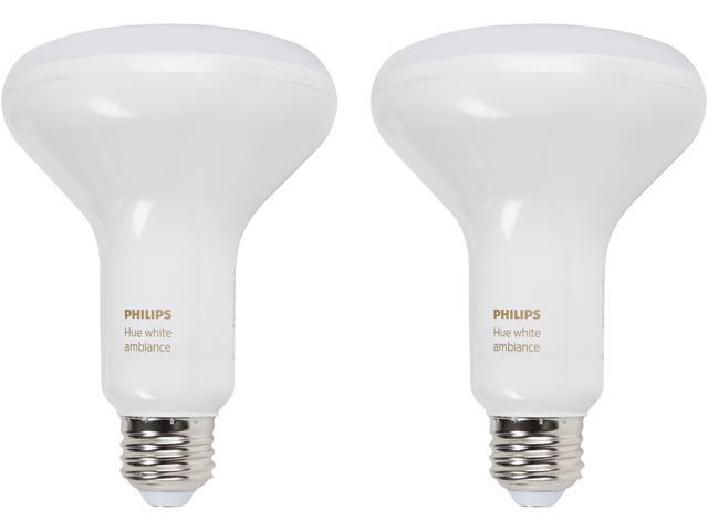 Philips Hue 466508 white ambiance BR30 dual pack - Newegg com