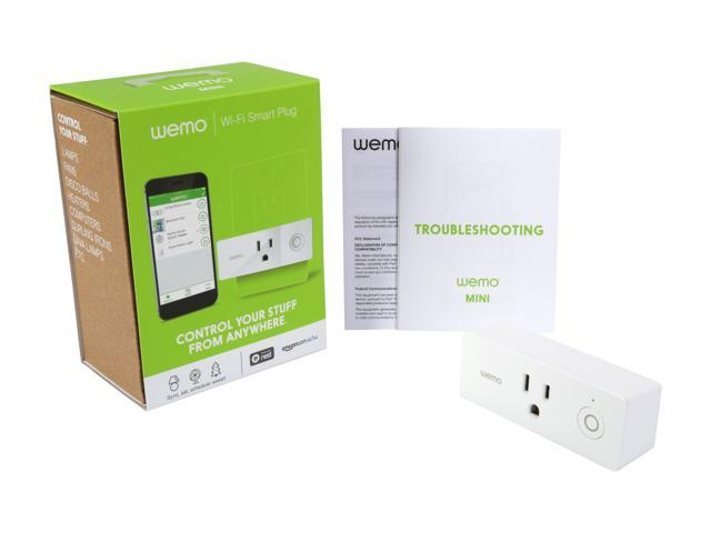 Wemo Mini Smart Plug (F7C063), Wi-Fi Enabled, Works with Amazon Alexa -  Newegg com