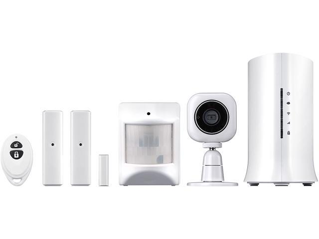 Home8 Security Starter Kit - Wireless Home Security Alarm System with 720p HD Camera and Indoor Siren