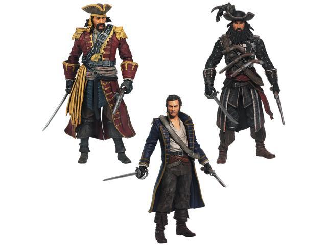 Mcfarlane Toys Assassin S Creed Series 1 Pirate Action Figure 3 Pack Newegg Com