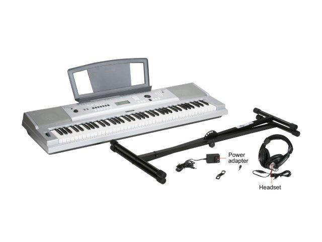 Yamaha DGX-230 76-Key Personal Keyboard w/AC Adapter, Stand and Headphone -  Newegg com