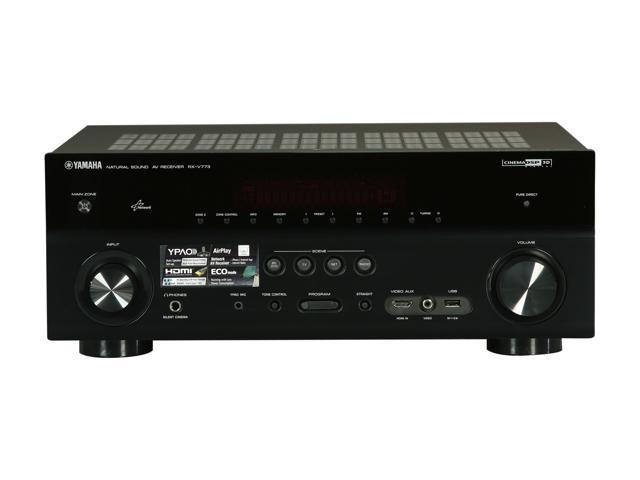 YAMAHA RX-V773WABL 7-Channel AV Receiver with WiFi Adapter - Newegg com