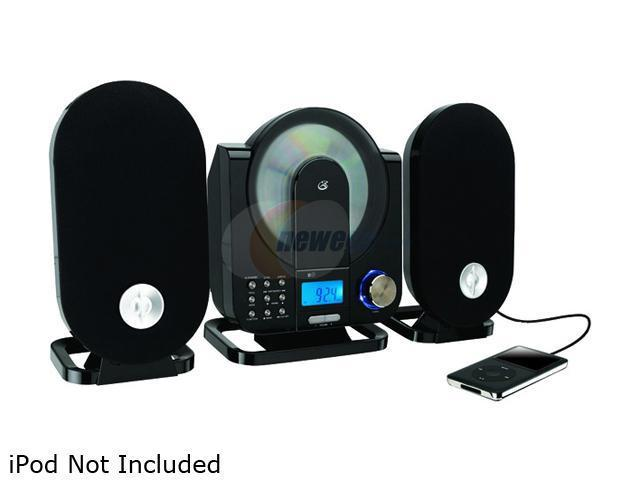 gpx hc208b home music system vertical cd player with am fm radio and