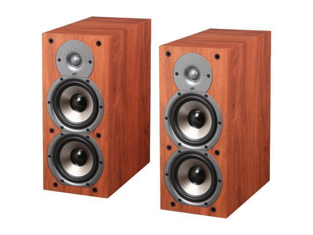 Polk Audio Monitor Series 45B Two Way Bookshelf Loudspeaker Cherry Pair