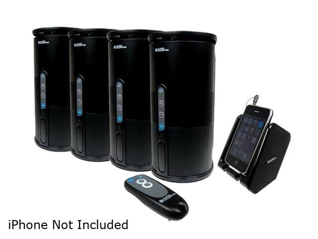 Audio Unlimited SPK VELO 4KIT2 Premium 900MHz Wireless Indoor Outdoor 4 Speakers System