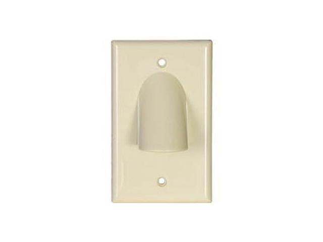 Ivory 6 Port Keystone Décora Style Wall Plate with Screwless Face