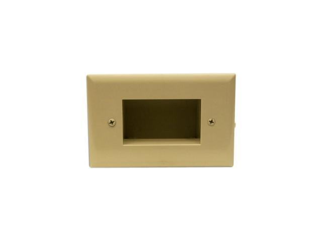 Lot of DATACOMM ELECTRONICS 45-0001-IV Recessed Low Voltage Cable Plate,Ivory 2