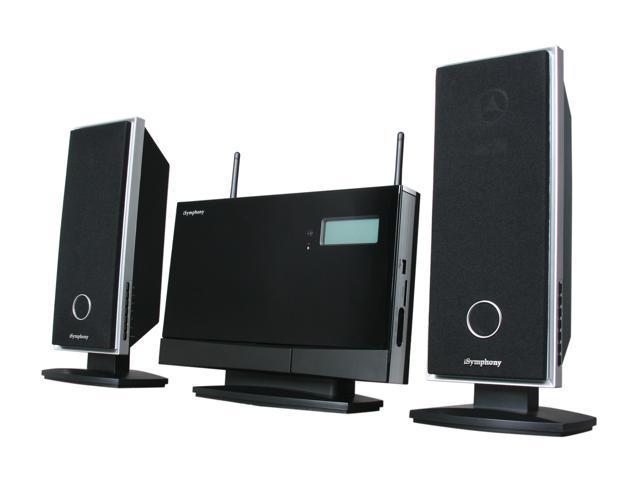 iSymphony W2C Audio System with Wireless Speakers - Newegg com