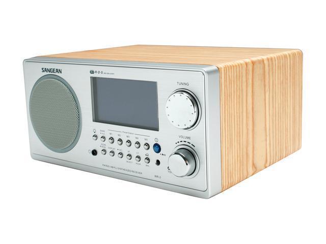 Sangean Digital AM FM Walnut Cabinet Table Top Radio WR 2