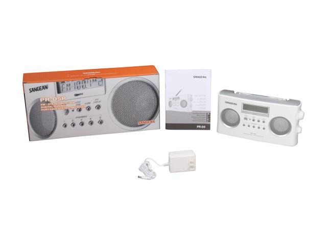 Sangean PR-D5BK AM//FM Portable Radio with Digital Tuning and RD.. Free Shipping