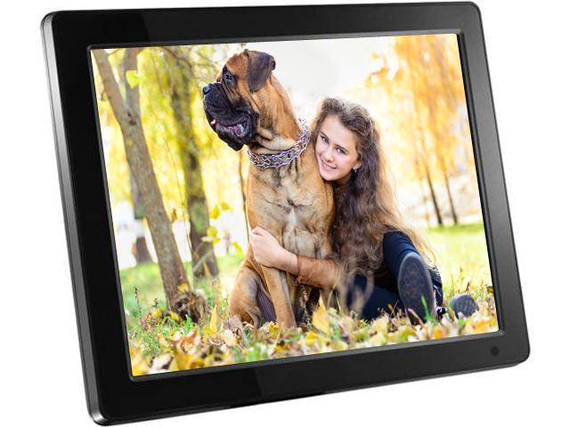 Aluratek ADMPF512F 800 x 600 Resolution Photo//Music//Video Support 12 Hi-Res Digital Photo Frame with 4GB Built-In Memory and Remote Wall Mountable,Black