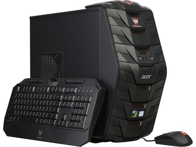 Acer Desktop Computer Predator G3-710-UC11 Intel Core i7 7th Gen 7700 (3 60  GHz) 32 GB DDR4 1 TB HDD 256 GB SSD NVIDIA GeForce GTX 1070 Windows 10