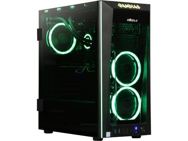 ABS Fort Gaming Desktop PC NVIDIA GeForce RTX 2080 Ti 11 GB Intel Core  i9-9900K (3 60 GHz) 8-Core Liquid Cooling (120 mm) 16 GB DDR4 240 GB SSD 2  TB