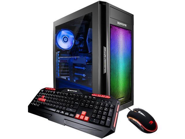 iBUYPOWER Desktop Computer AlphaBR16R56 Ryzen 5 1600 (3 20 GHz) 8 GB DDR4 1  TB HDD 120 GB SSD AMD Radeon RX 580 4GB Windows 10 Home 64-Bit -