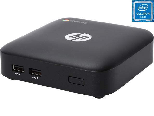HP Desktop Computer Chromebox (J5N50UT#ABA) Celeron 2955U (1 4 GHz) 4 GB  DDR3 16 GB SSD Google Chrome OS - Newegg com