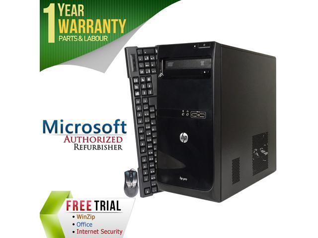 Refurbished: HP Desktop Computer PRO 3500 Intel Core i5 3470 (3 20 GHz) 4  GB DDR3 250 GB HDD Windows 7 Professional 64-bit - Newegg com