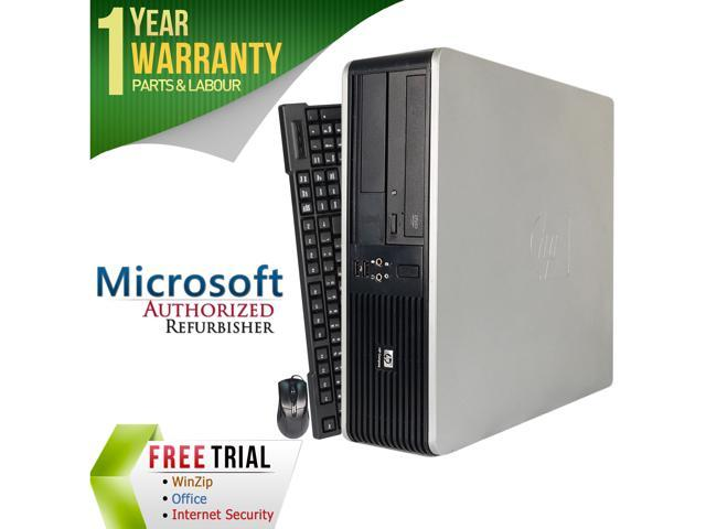 Refurbished: HP Compaq Refurbished Desktop Computer DC7800 Core 2 Duo E8400  (3 00 GHz) 4 GB DDR2 250 GB HDD Windows 7 Professional 64-bit - Newegg com