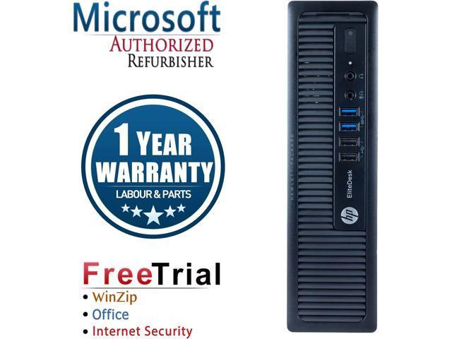 Refurbished: Refurbished HP EliteDesk 800G1 Ultra Slim Desktop / Core i5  4570S 2 9G / 4G DDR3 / 250G / DVD / Windows 7 Professional 64 Bit / 1 Year
