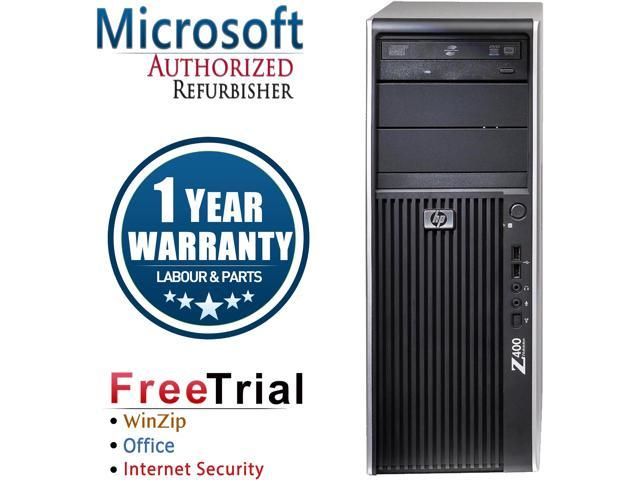 Refurbished: HP Desktop Computer Z400 Xeon W3550 (3 06 GHz) 4 GB DDR3 250  GB HDD Windows 10 Pro Multi-Language, English / Spanish - Newegg com