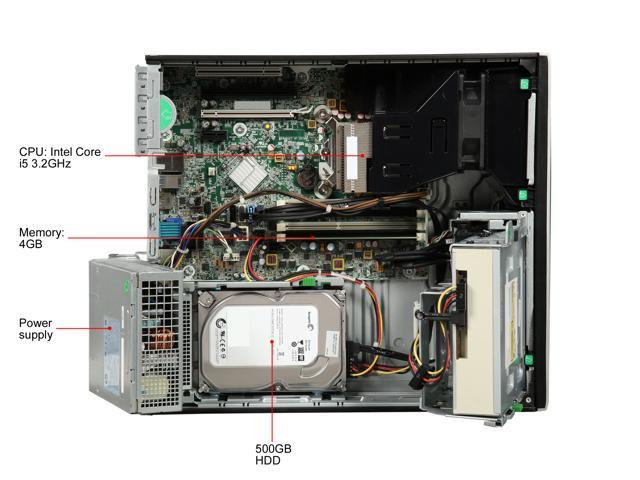 Refurbished: HP Desktop Computer 8300 Intel Core i5 3rd Gen 3 2 GHz 4 GB  500 GB HDD Windows 10 Home - Newegg com