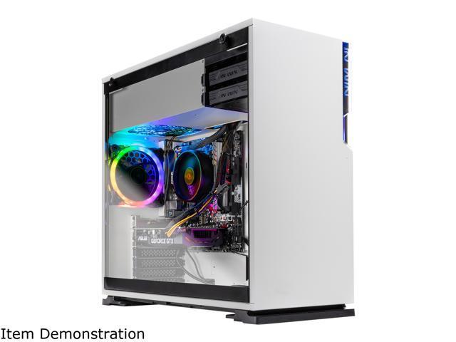 SkyTech Omega S - Gaming Computer PC Desktop - Ryzen 5 1600 6-Core 3 2 GHz,  NVIDIA GeForce GTX 1660 Ti 6 GB, 500 GB SSD, 8 GB DDR4, RGB, AC WiFi,